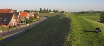 Flood Protection Dyke, River Elbe